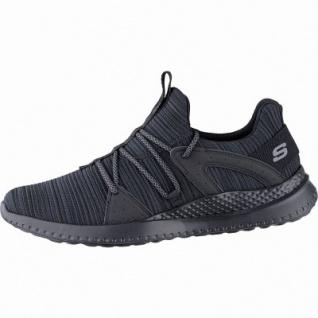Skechers Matera coole Herren Strick Sneakers black, Skechers Air-Cooled Memory Foam-Fußbett, 4241144