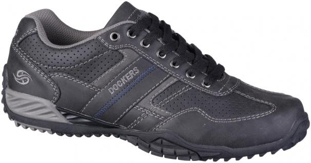 DOCKERS Herren Leder Imitat Sneakers schwarz, Meshfutter, herausnehmbare Deck...