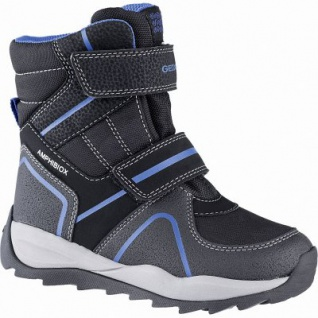 Geox Jungen Synthetik Winter Amphibiox Boots black, molliges Warmfutter, Geox Fußbett, 3741117/37