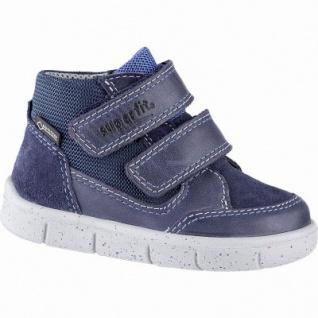 Superfit coole Jungen Leder Lauflern Sneakers blau, Tex Ausstattung, mittlere Weite, herausnehmbares Fußbett, 3141103/23