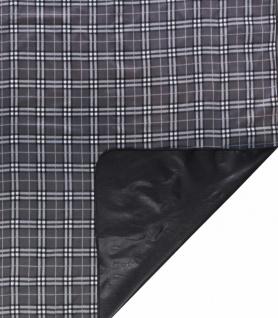 wasserdichte Reisedecke grau kariert 150x130 cm waschbar, weiches Fleece, als...