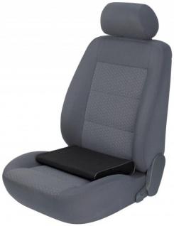 ergonomisches Baumwoll Auto Sitzkissen schwarz 45x45 cm, entlastet Rücken+Wirbelsäule, 30 Grad waschbar