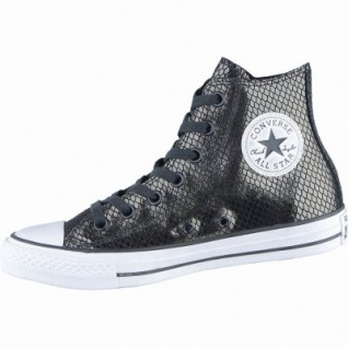 Converse Chuck Taylor All Star-Metallic Snake Leather-HI coole Damen Canvas Metallic Sneakers black, 4238195/41.5
