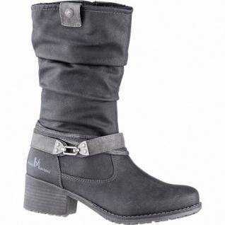 bruno banani modische Damen Synthetik Winter Stiefel schwarz, 24 cm Schaft, Warmfutter, warme Decksohle, 1641222