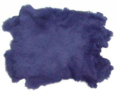 Kaninchenfelle lavendel gefärbt, ca. 30x30 cm, Felle vom Kaninchen mit seidigem Haar