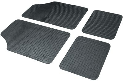 Universal Komplett Set Basic Plus Auto Gummimatten schwarz 4-tlg., Anti Slip, rutschhemmend, Auto Fußmatten, Schutzmatten