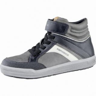 Geox coole Jungen Synthetik Winter Amphibiox Sneakers grey, angerautes Futter, Thermo Fußbett, 3739170/28