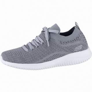 Skechers Ultraflex coole Damen Strick Sneakers slate grey, Skechers Air-Cooled-Memory-Foam-Fußbett, 4240192/40