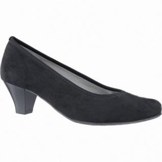Jenny Auckland klassische Damen Synthetik Pumps schwarz, Leder Fußbett, Comfort Weite G, 1140118