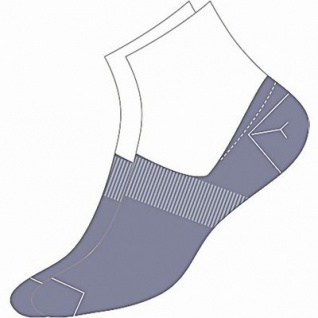 Camano Basic NOS Invisible denim, 2er Pack Damen, Herren unsichtbare Sneaker Socken blau, 74% Baumwolle, 6539111/39-42