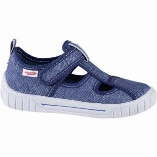 Superfit leichte Jungen Textil Hausschuhe blau, mittlere Weite, anatomisches Superfit Fußbett, 3841108/36