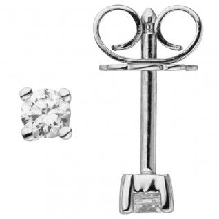 Ohrstecker 585 Gold Weißgold 2 Diamanten Brillanten 0, 14 ct. Ohrringe