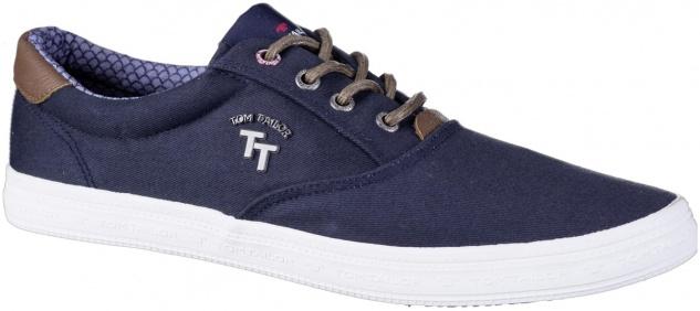TOM TAILOR Herren Textil Sneakers navy, weiche Laufsohle mit TOM TAILOR Logo