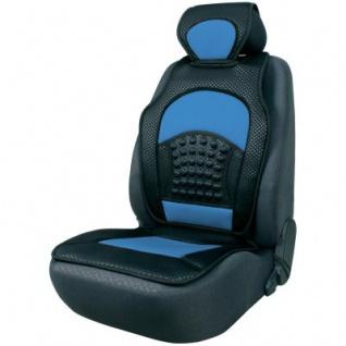 trendige Universal Auto Sitzauflage Space schwarz blau mit Nackenstütze, 30 Grad waschbar, für alle PKW
