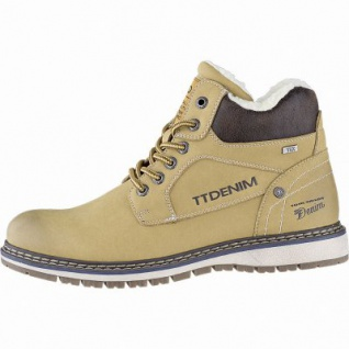 TOM TAILOR sportliche Herren Leder Imitat Winter Tex Boots camel, 12 cm Schaft, Warmfutter, warmes Fußbett, 2541114/45