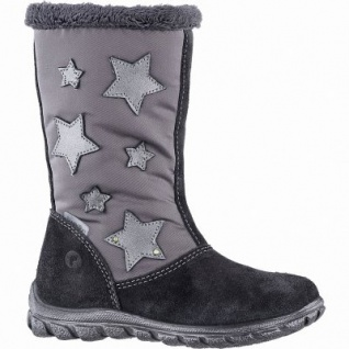 Ricosta Emilia Mädchen Winter Leder Tex Boots asphalt, 18 cm Schaft, Warmfutter, angerautes Fußbett, 3741257/28