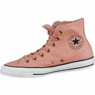 Converse CTAS Leather Fur coole Damen Leder Winter Sneaker pink blush, Warmfutter, Converse Laufsohle, 1637278/36