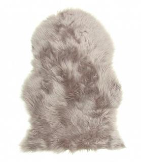 Lammfell Teppich Kunstfell taupe, Schaffell Imitat, 100% Acryl, ca. 90x60 cm,...
