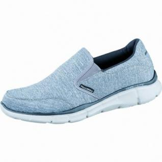 Skechers praktischer Herren Synthetik Slip-on grey black, Skechers Memory-Foam-Fußbett, 4036164/41