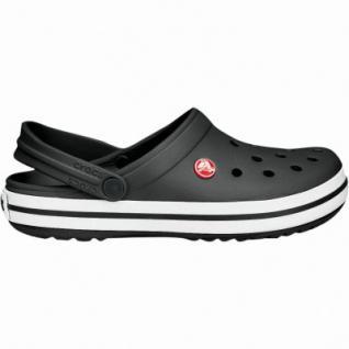 Crocs Crocband Damen, Herren Crocs schwarz, verstellbarer Riemen, 4233144/39-40