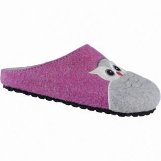 Softwaves Owl coole Mädchen Filz Hausschuhe mit Eulen fuchsia, anatomisches Kork Fußbett, 3939109/29