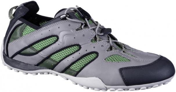 GEOX Herren Synthetik Sneakers grey, Meshutter, weiche Geox Laufsohle