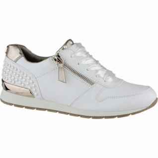 TOM TAILOR coole Damen Synthetik Sneakers white mit Accessoires, gepolsterte Tom-Tailor-Decksohle, 1240179
