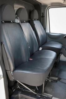 Passform Transporter Sitzbezüge Ford Transit, passgenauer Kunstleder Sitzbezug Einzelsitz+Doppelbank, Bj. 08/2000-04/2014
