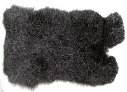 Kaninchenfelle schwarzsilber naturfarben, ca. 30x30 cm, Felle vom Kaninchen m...