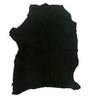 Lederhaut Ziege, Ziegenhaut, Ziegenleder, Velour, schwarz
