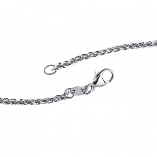 Zopfkette 925 Sterling Silber 2, 2 mm 50 cm Halskette Kette Silberkette Karabiner