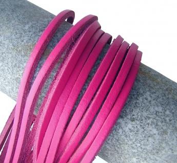 1 Paar Docksider Leder Schuhriemen fuchsia, Länge 120 cm, Stärke ca. 2, 8 mm, ...