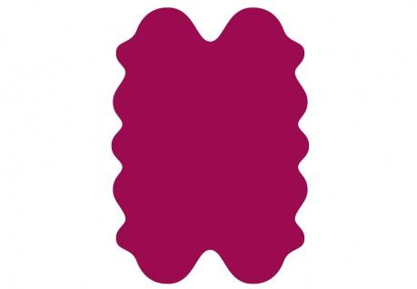 exklusive Lammfell Fellteppiche pink gefärbt, 4 Einzelfelle, waschbar, Haarlä...