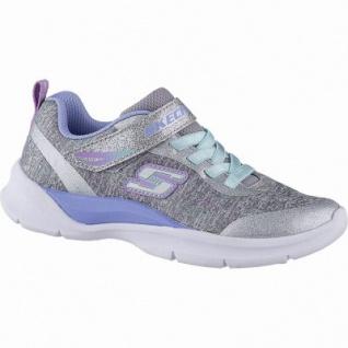 Skechers Tech-Groove coole Mädchen Jersey Sneakers grey multi, weiches Skechers Fußbett, 4042121/27