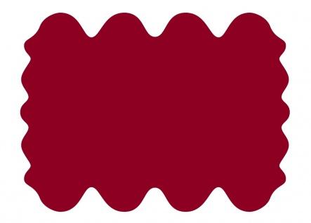 exklusive Lammfell Fellteppiche rot gefärbt, 8 Einzelfelle, waschbar, Haarlän...