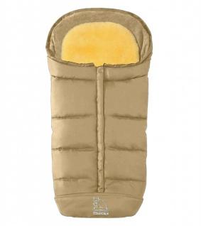warmer Baby Lammfell Winter Fußsack beige waschbar, herausnehmbare Lammfell E...