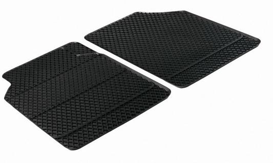 2 Stück Universal Auto Gummimatten schwarz vorn 43x66 cm, Anti Slip, rutschhe...
