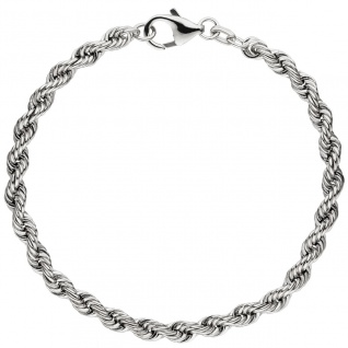 Kordelarmband 925 Sterling Silber massiv 19 cm Armband Silberarmband