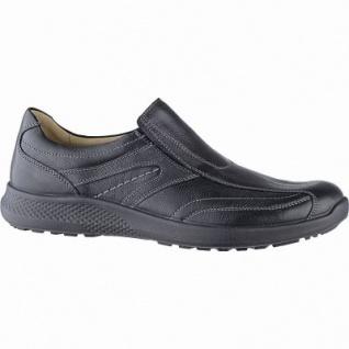 Jomos Herren Leder Slipper schwarz, Lederfutter, herausnehmbares Fußbett, Luftpolstersohle, 2041108/41