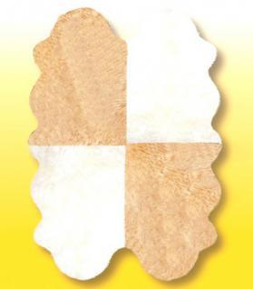 Fellteppiche naturweiß-beige aus 4 Lammfellen, Größe ca. 185 x 125 cm, 30 Grad waschbar