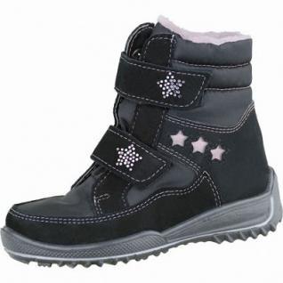 Ricosta Sakine Mädchen Winter Leder Tex Boots schwarz, mittlere Weite, molliges Warmfutter, 3737162/25