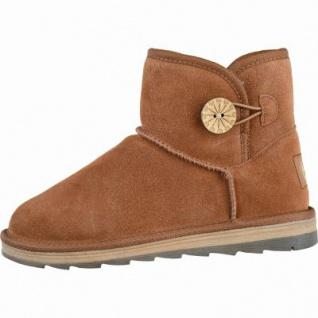 Marco Tozzi coole Damen Velourleder Boots muscat, molliges Warmfutter, mollig warmes Fußbett, 1637252/40