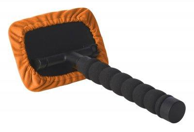 PKW, LKW Windschutzscheiben Reiniger mit Teleskopstange, schwenkbar, ausziehbar 26-42 cm, 2 Mikrofaser Pads