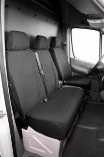 Passform Transporter Sitzbezüge Ford Transit, passgenauer Stoff Sitzbezug Einzelsitz+Doppelbank, Bj. 08/2000-04/2014