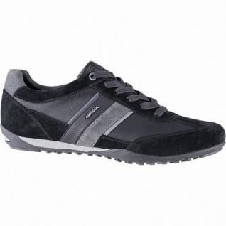 Geox coole Herren Leder Sneakers black, Meshfutter, chromfrei, herausnehmbare Einlegesohle, 2141107/40