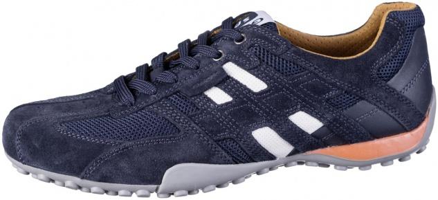 GEOX Herren Leder Sneakers navy, Meshfutter, atmungsaktive Geox Laufsohle