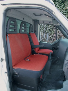 Universal Polyester Sitzbezüge Transporter rot, waschbar, 1 Vordersitzbezug, ...