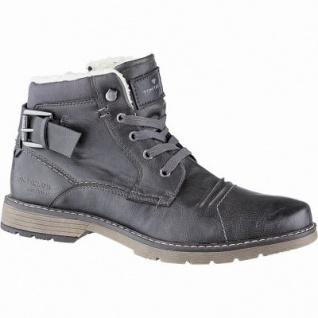 TOM TAILOR coole Herren Leder Imitat Winter Stiefeletten coal, 12 cm Schaft, molliges Warmfutter, warmes Fußbett, 2541119/44