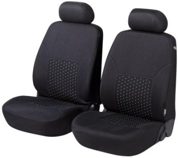 komfortable Universal Polyester KFZ Schonbezüge DotSpot, Bezug 2 Vordersitze schwarz waschbar, für Seitenairbag