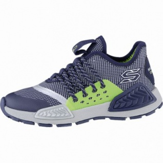 Skechers Kinectors coole Jungen Mesh Sneakers navy, Skechers Air Cooled Memory Foam-Fußbett, 4240173
